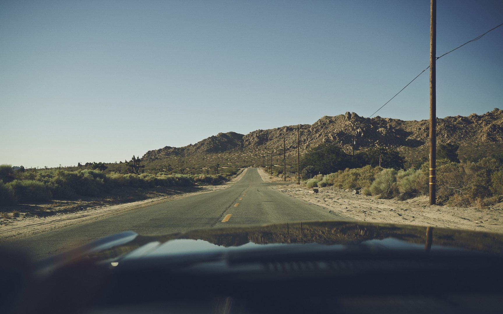 Driving in the desert with Ford Mustang by Stefan Rappo
