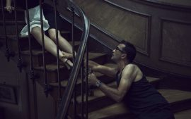 Thumbnail Drunk man tries to hold back girl in staircase by Stefan Rappo