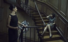 Thumbnail Woman and man threaten girl in staircase by Stefan Rappo