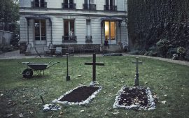 Thumbnail Two graves in garden by Stefan Rappo