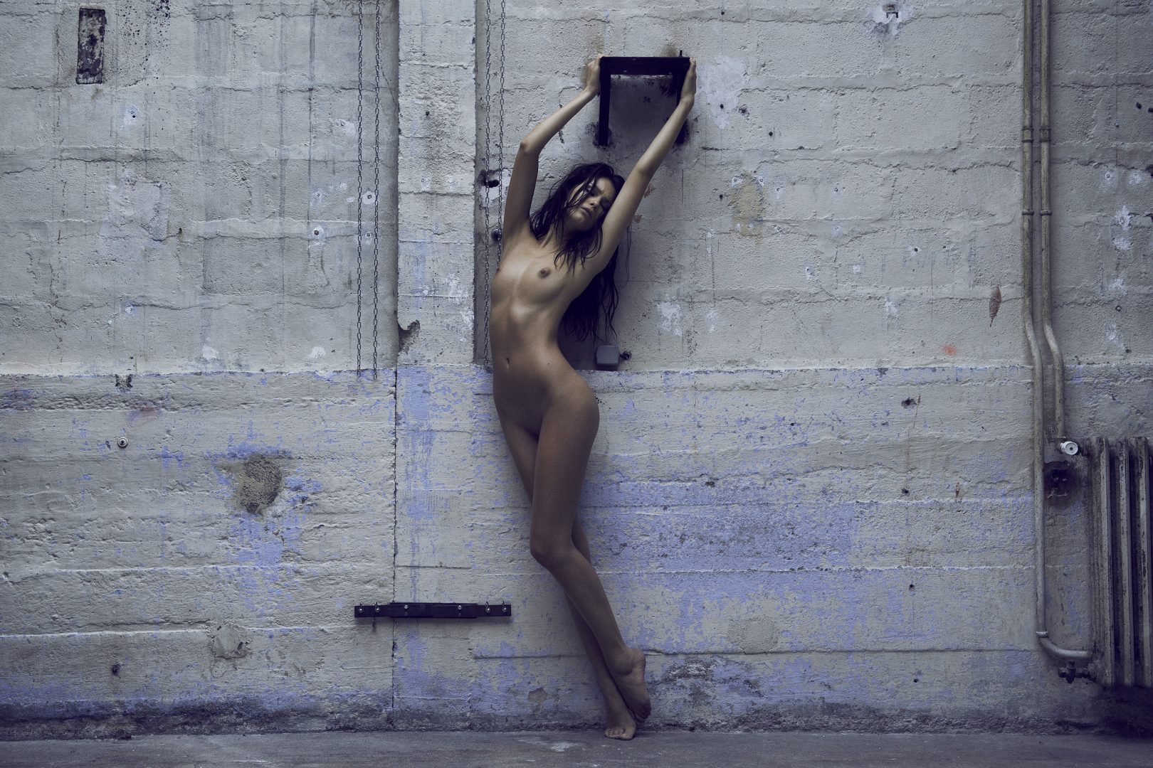 Naked girl standing by Stefan Rappo