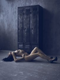 Thumbnail Naked girl on floor by Stefan Rappo