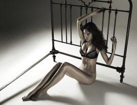 Thumbnail Girl in lingerie sitting on floor by Stefan Rappo