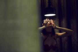 Thumbnail girl in lingerie in hotel room