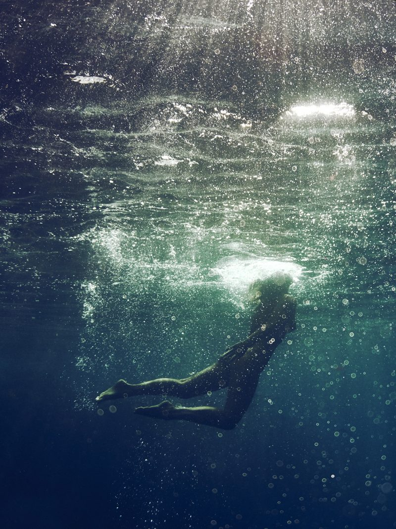 Naked girl emerge in sea by Stefan Rappo