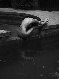 Thumbnail Naked girl poolside by stefan rappo