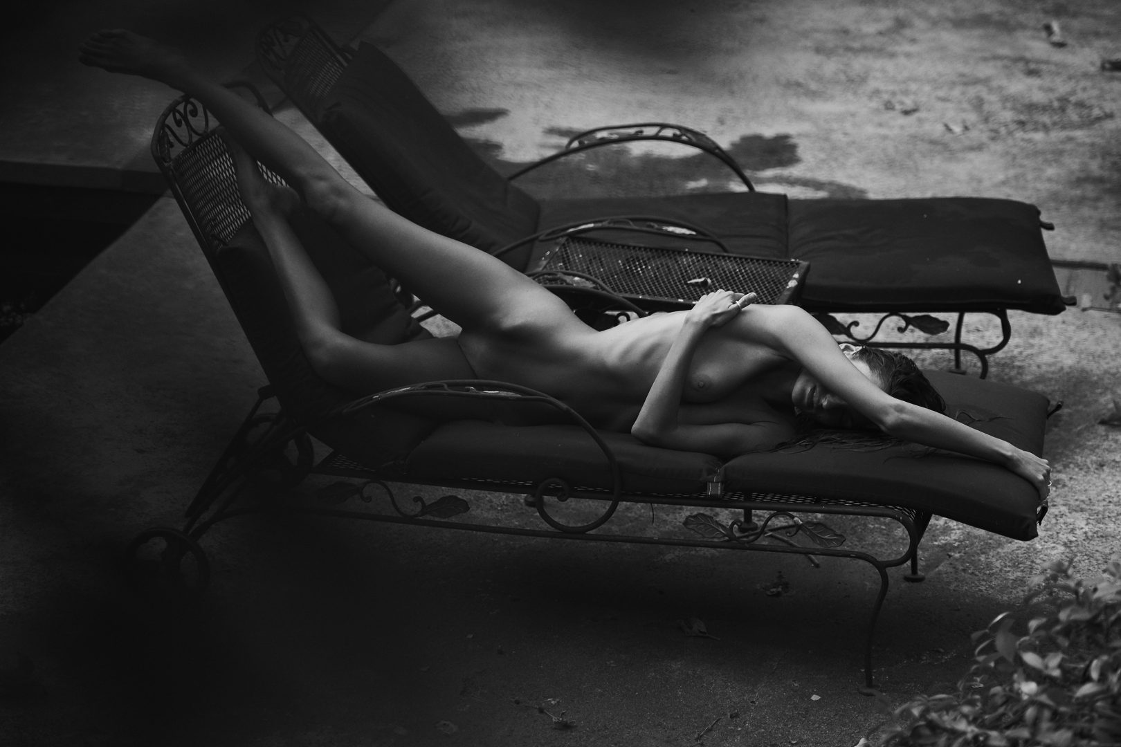 Naked girl poolside by stefan rappo