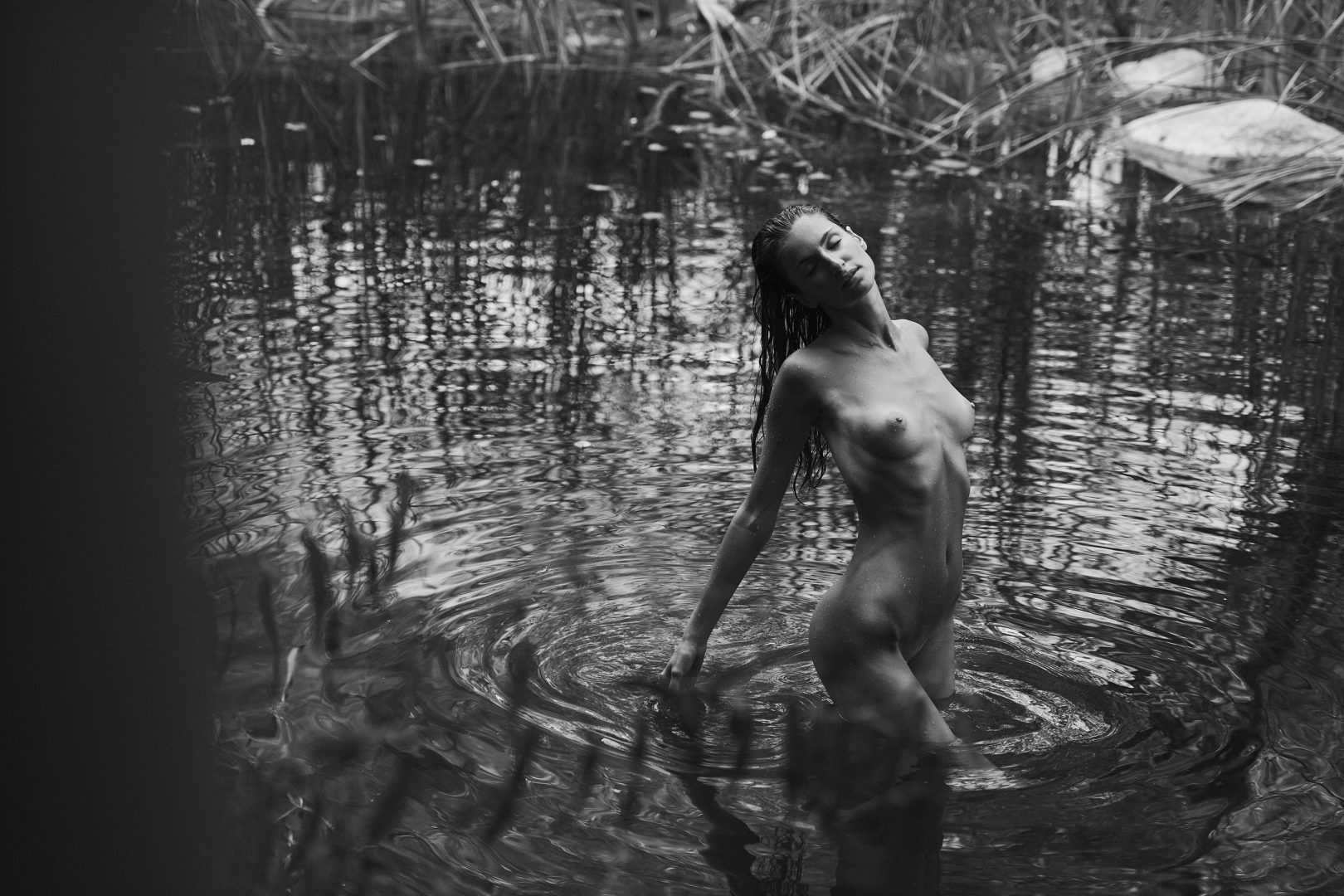 naked girl in hot spring by stefan rappo