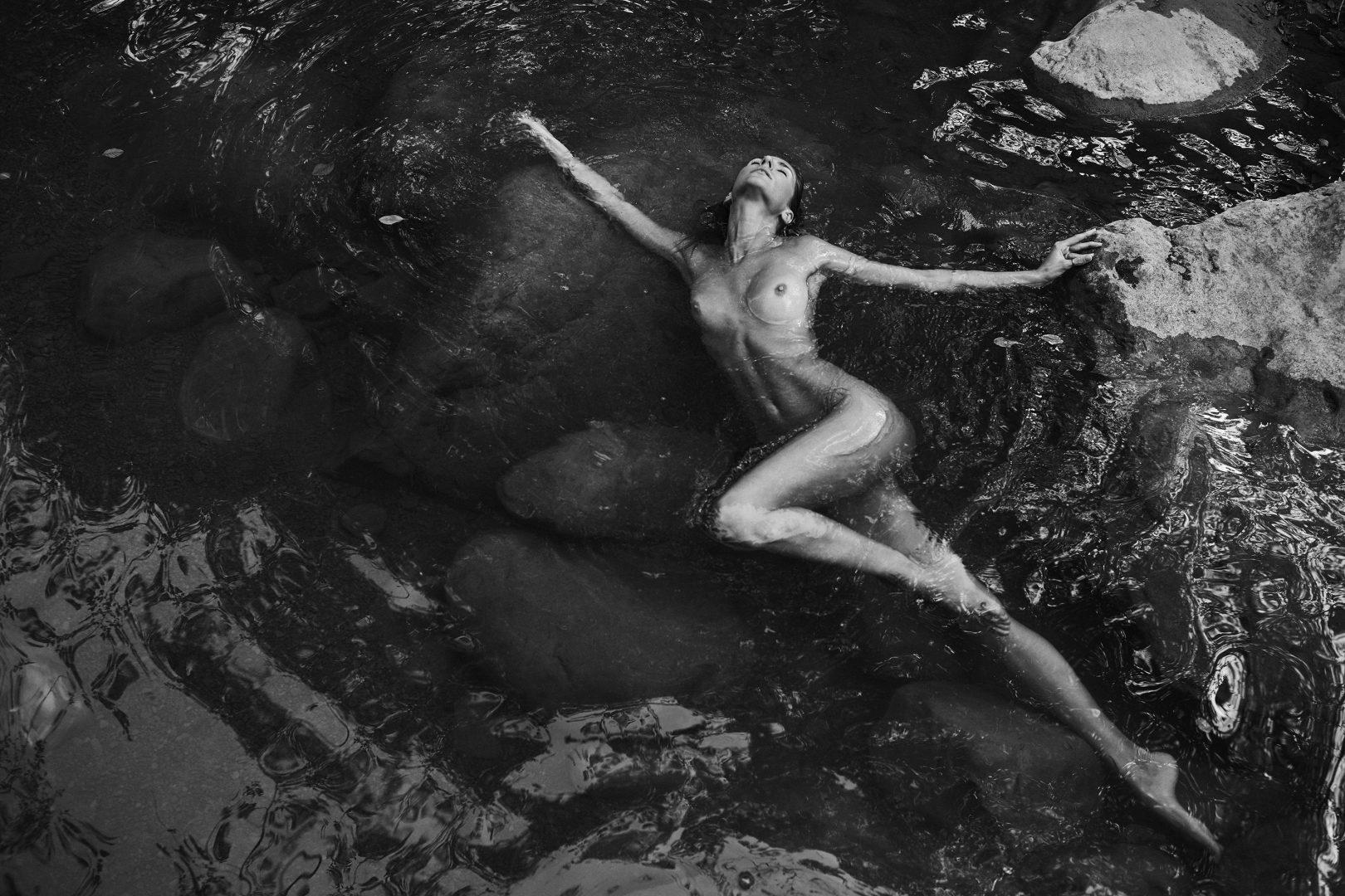 naked girl in hot spring by stefan rappo