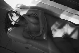 Thumbnail Naked woman on boat by stefan rappo