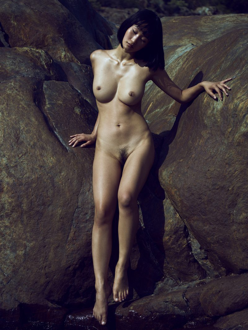 portrait of naked girl by stefan rappo