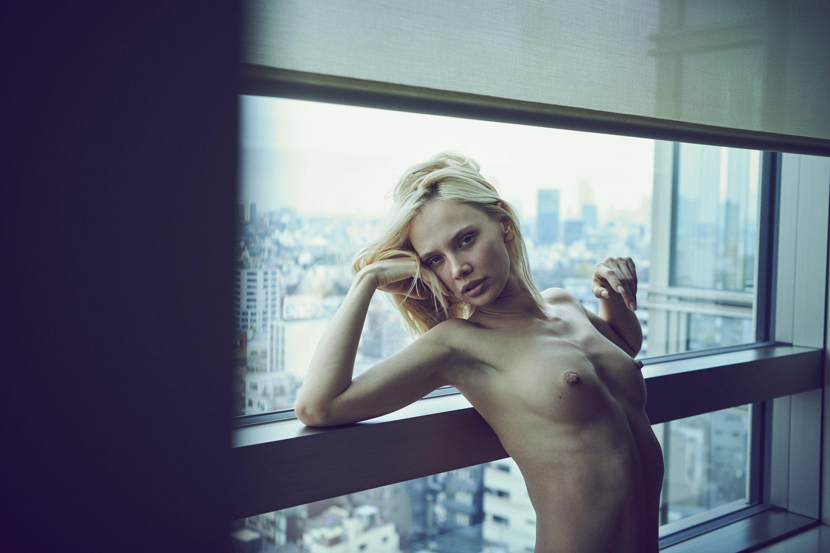 Naked girl in hotel room by stefan rappo