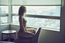 Thumbnail Naked girl in hotel room by stefan rappo