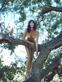 Thumbnail Naked girl standing on tree by stefan rappo