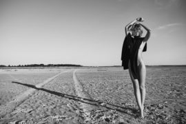 Thumbnail girl on beach by stefan rappo