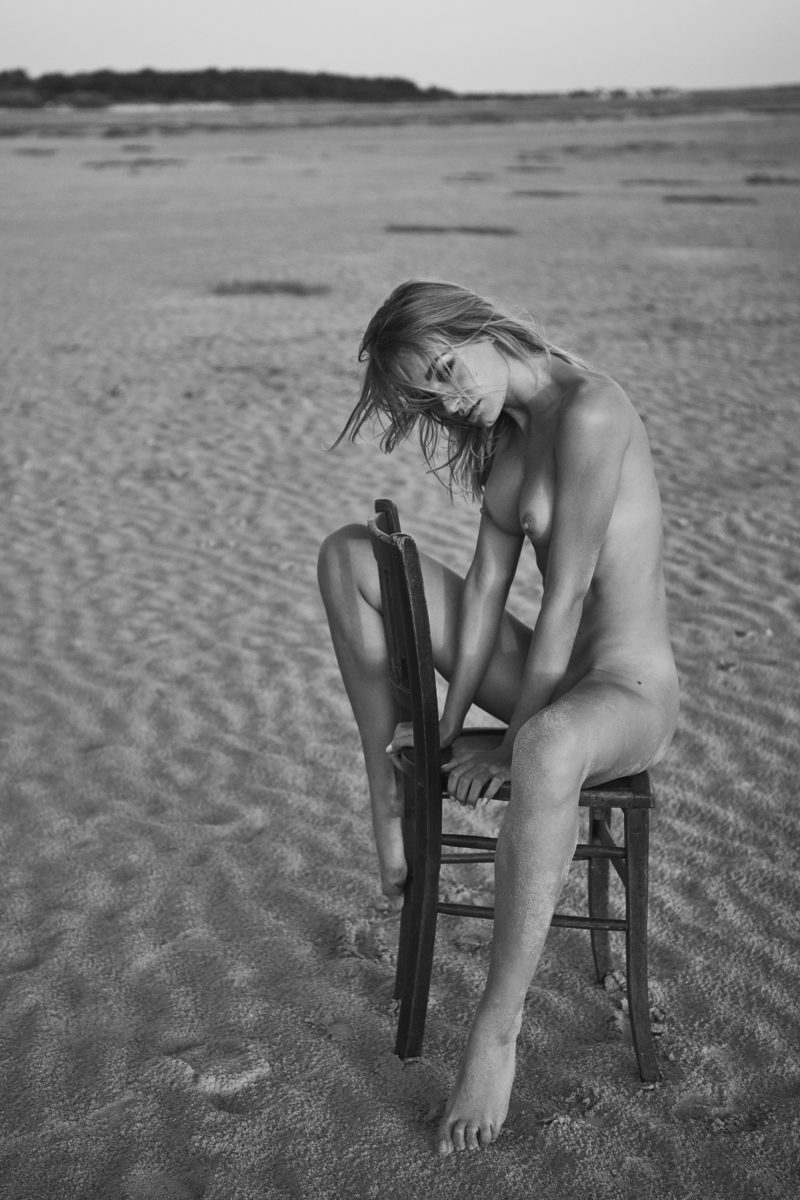 girl on beach by stefan rappo