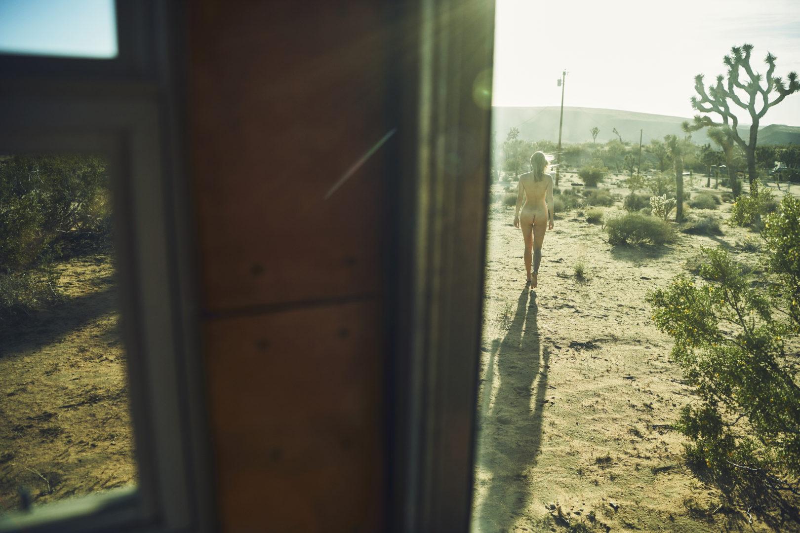 naked girl outside in trailer park