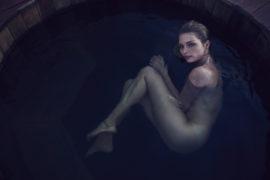 Thumbnail girl taking bath