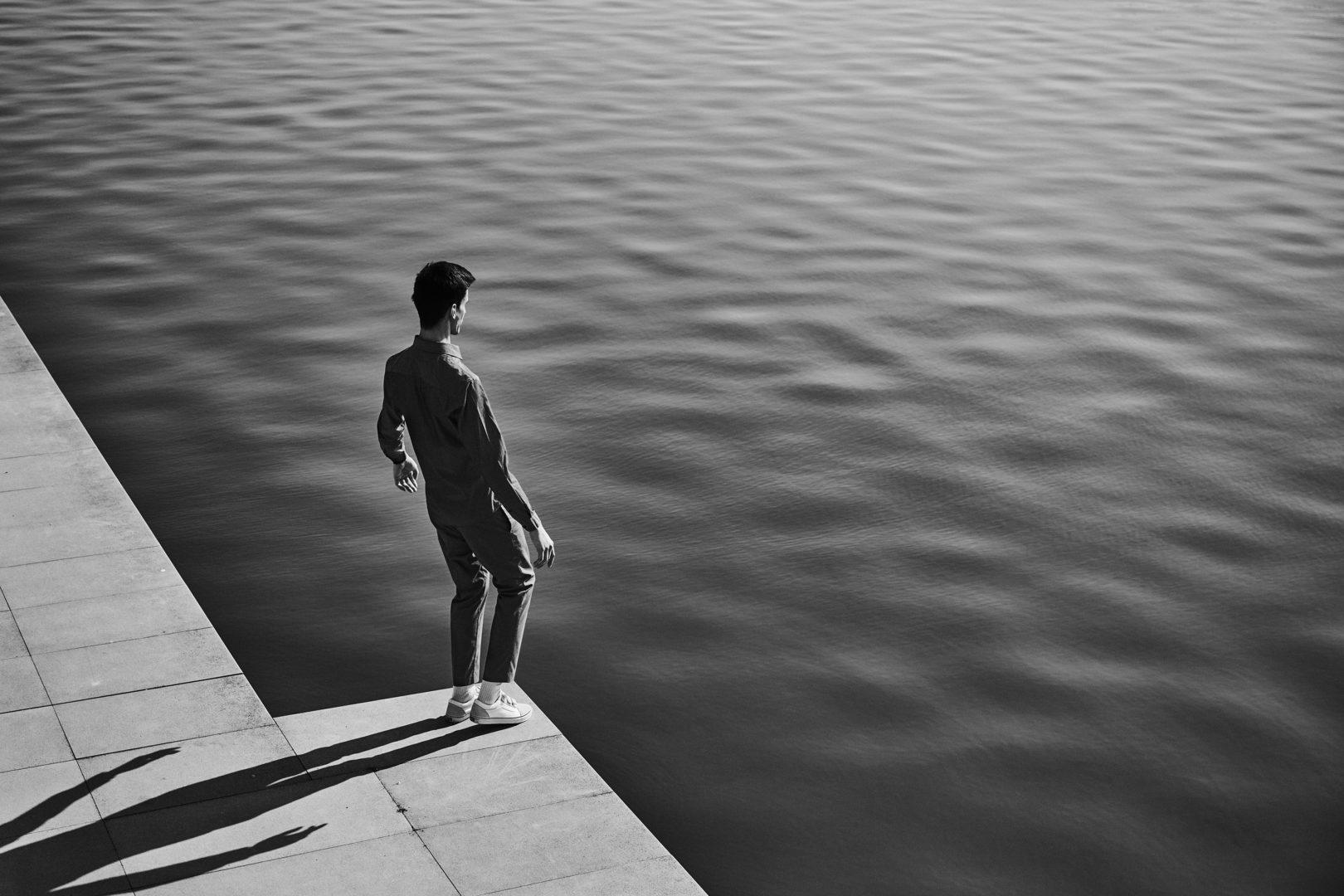 Man at waterfront